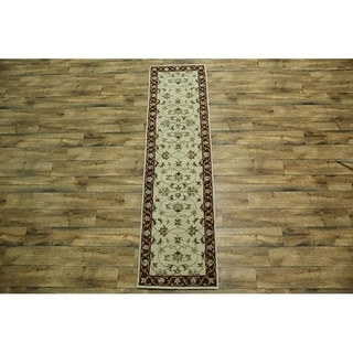 "Copper Grove Platanistasa Floral Handmade Oushak Traditional Agra Indian Oriental Rug - 9'8"" x 2'6"" runner"