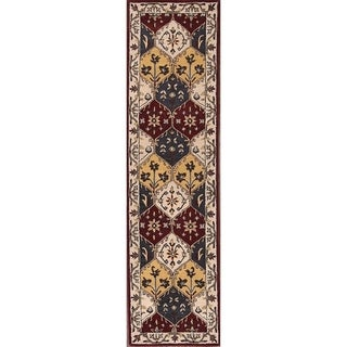 "Copper Grove Bronderslev Hand-tufted Wool Traditional Oriental Floral Rug - 9'8"" x 2'6"" runner"