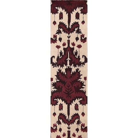 "Carson Carrington Appuna Oriental Traditional Floral Beige Rug - 9'10"" x 2'6"" runner"