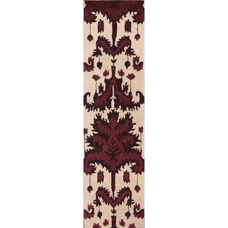"Carson Carrington Appuna Oriental Traditional Floral Beige Rug - 9'10"" x 2'6"" runner"