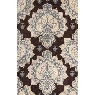 "Strick & Bolton Briel Floral Hand-tufted Area Rug - 8'0"" x 5'0"""