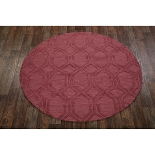 Copper Grove Norre Oushak Indian Oriental Handmade Floral Area Rug - 8' Round