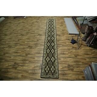 "Gracewood Hollow Pyrkalo Handmade Brown Wool Runner Rug - 19'5"" x 2'6"" runner"