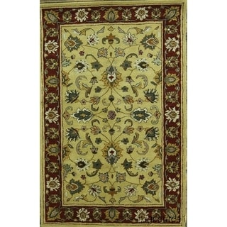 """The Curated Nomad Albion Floral Oushak Hand-tufted Indian Oriental Area Rug - 8'0"""" x 5'2"""""""