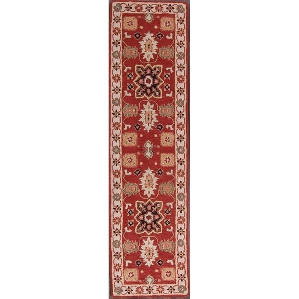 Hand Tufted Traditional Oriental Red Wool Rug With Non: Shop The Curated Nomad Conkling Kazak Oriental Hand-tufted
