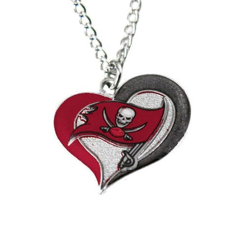 NFL Tampa Bay Buccaneers Sports Team Logo Swirl Heart Necklace Charm