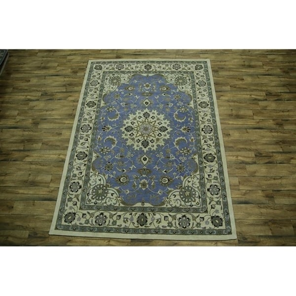 Shop Oushak Floral Tufted Wool Persian Oriental Area Rug: Shop Traditional Hand Tufted Floral Oushak Oriental Area