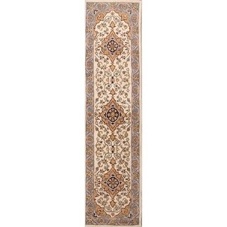 "Copper Grove Potamos Floral Oushak Agra Hand Tufted Indian Oriental Area Rug Wool - 9'11"" x 2'8"" runner"