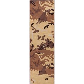 "Porch & Den Worthington Hand-made Floral Oushak Oriental Runner Rug - 2'8"" x 9'11"" runner"