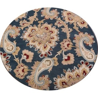 Copper Grove Kokkina Agra Indian Oriental Hand Tufted Woolen Paisley Area Rug - 8' Round