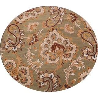 Copper Grove Aalborg Handmade Wool Agra Indian Oriental Floral Area Rug - 8' Round