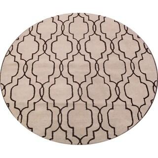 Copper Grove Hjortshoj Moroccan Trellis Hand-tufted Wool Area Rug - 8' Round