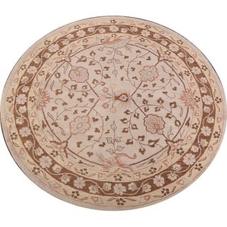 Copper Grove Odense Handmade Wool Agra Floral Indian Oriental Area Rug - 8' Round