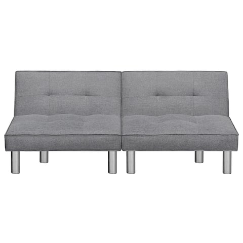 Sleeplanner Futon Sofa Bed with Microfiber Upholstery Grey