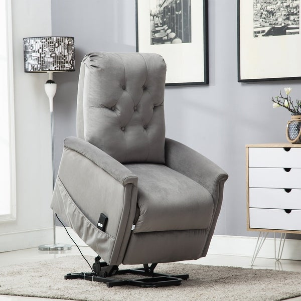 Shop Copper Grove Evreux Tufted Power Lift Recliner With