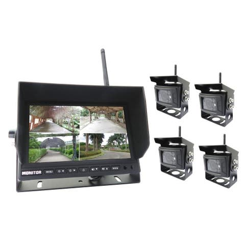Pyle PLCMTR83QIR Wireless Vehicle Back-Up Camera & Monitor DVR Kit