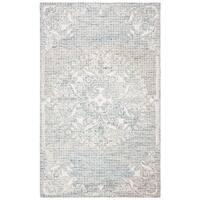 Safavieh Handmade Abstract Modern & Contemporary Light Blue Wool Rug - 8' X 10'