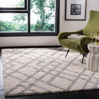 Safavieh Berber Shag Cream / Grey Rug - 9' x 12'