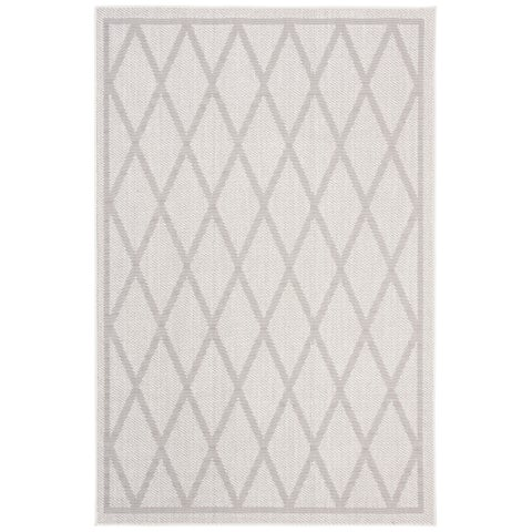 "Safavieh Bermuda Transitional Ivory / Light Grey Rug - 6'7"" x 6'7"" Square"