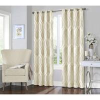 "Eclipse Caprese Thermalayer Blackout Window Curtain 84"" in Ivory (As Is Item)"