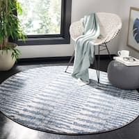 "Safavieh Galaxy Transitional Navy / Light Grey Rug - 5'3"" x 5'3"" Round"