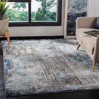 """Safavieh Galaxy Transitional Charcoal / Blue Rug - 5'3"""" x 5'3"""" Square"""