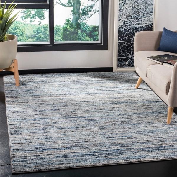 shop safavieh galaxy transitional blue grey rug 5 3 x 5 3