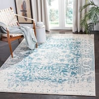 "Safavieh Madison Vintage Teal / Ivory Rug - 6'-7"" X 9'-2"""