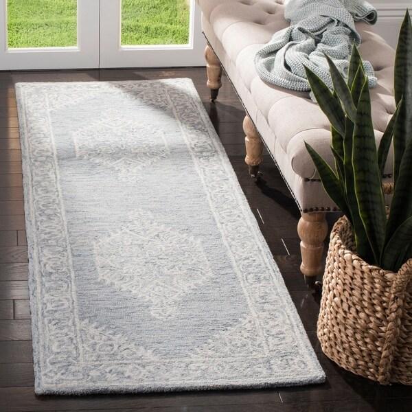 Loop Light Grey Bath Rug Reviews: Shop Safavieh Handmade Micro-Loop Transitional Grey Wool