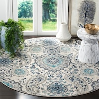 Overstock.com deals on Safavieh Madison Belle Paisley Boho Glam Rug - 4x4ft Round