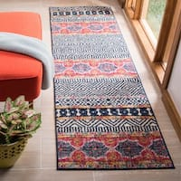 "Safavieh Madison Cleo Bohemian Eclectic Navy / Ivory Area Rug - 2'3"" x 8'"