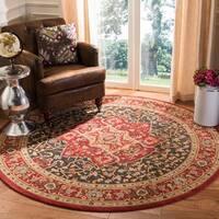 "Safavieh Mahal Traditional Grandeur Red/ Red Rug - 6'7"" x 6'7"" Round"