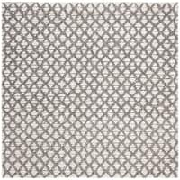 Safavieh Handmade Natura Transitional Grey / Beige Wool Rug - 6' x 6' Square