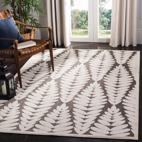 Safavieh Washable Monroe Modern & Contemporary Grey / Cream Rug - 8' x 11'2""