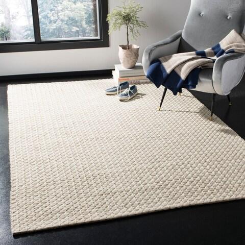Safavieh Handmade Natura Transitional Ivory Wool Rug - 6' x 6' Square