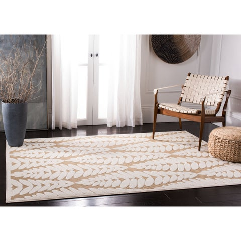 "Safavieh Washable Monroe Modern & Contemporary Beige / Cream Rug - 5'3"" x 7'7"""