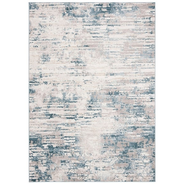 Modern Rugs 8 X 10: Shop Safavieh Vogue Modern & Contemporary Cream / Teal Rug
