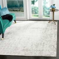 Safavieh Couture Handmade Tibetan Modern & Contemporary Ivory / Silver Wool Rug - 8' x 10'