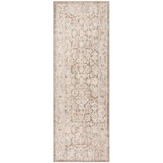 Safavieh Windsor Ryszarda Shabby Chic Oriental Polyester Rug (3 x 12 Runner - Brown/Ivory)