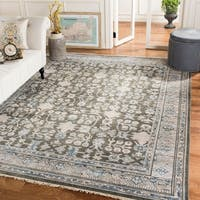 Safavieh Couture Handmade Sultanabad Traditional Blue / Charcoal Wool Rug - 9' x 12'