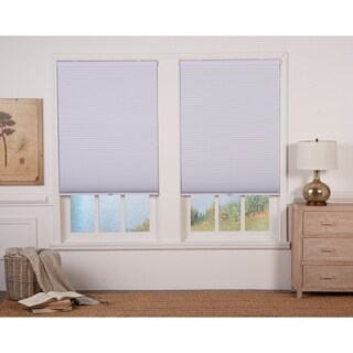 White 84-inch Long Cordless Blackout Cellular Shade
