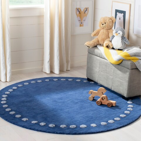 Safavieh Kids Kids & Tween Navy Wool Rug - 5' x 5' Round