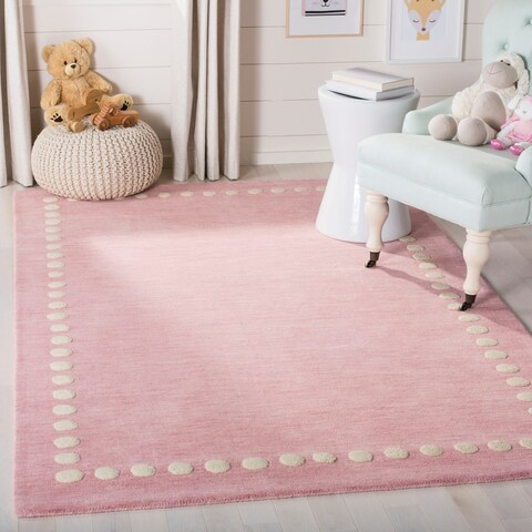 Safavieh Kids Kids & Tween Pink Wool Rug - 5' x 5' Square