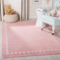 Safavieh Kids Kids & Tween Pink Wool Rug - 5' x 5' Square