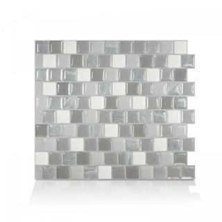 Brixia Casoria 10.20 in. x 8.85 in. Peel and Stick Self-Adhesive Decorative Mosaic Wall Tile Backsplash (4-Pack)