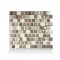 Brixia Pardo 10.20 in. x 8.85 in. Peel and Stick Self-Adhesive Decorative Mosaic Wall Tile Backsplash (4-Pack)