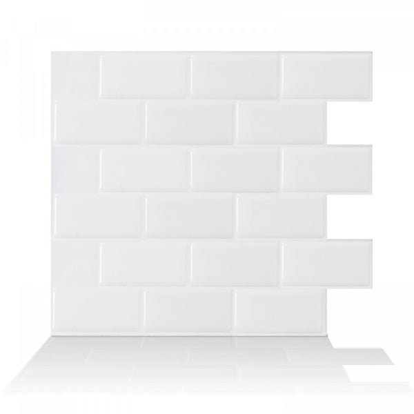 Up To 45 Off Peel Stick Kitchen Backsplash Tile At Walmart: Shop Subway White 10.95 In. X 9.70 In. Peel And Stick Self