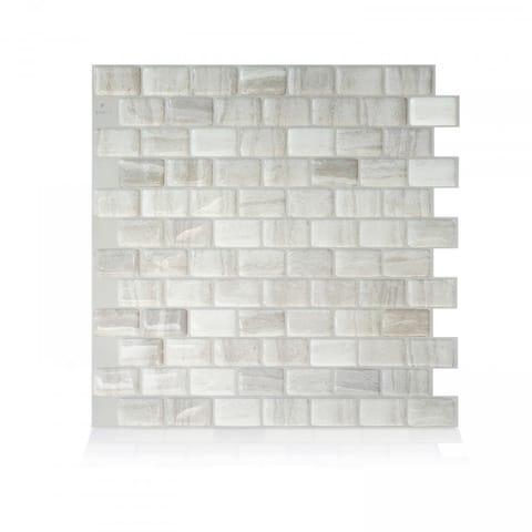 Ravenna Farro 9.80 in. x 9.74 in. Peel and Stick Self-Adhesive Decorative Mosaic Wall Tile Backsplash (4-Pack)