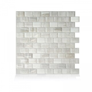 Ravenna Farro 9.80 in. x 9.74 in. Peel and Stick Self-Adhesive Decorative Mosaic Wall Tile Backsplash (4-Pack)