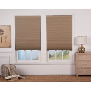 Link to Copper Grove Yerevan 48-inch Latte/White Cordless Blackout Cellular Shade Similar Items in Blinds & Shades